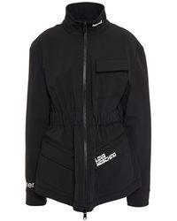 Love Moschino Fleece-lined Printed Jersey Jacket - Black