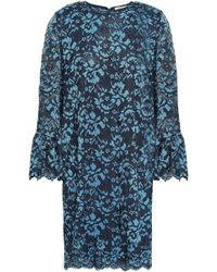 Ganni - Flynn Lace Mini Dress Cobalt Blue - Lyst