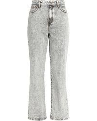 Maje - Perla Faded High-rise Straight-leg Jeans Light Grey - Lyst