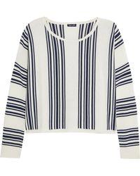 Splendid - Bayside Striped Stretch-knit Sweatshirt - Lyst