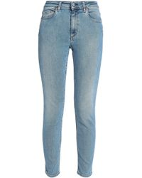 Acne Studios - Faded Mid-rise Skinny Jeans Light Denim - Lyst
