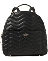 Kate Spade Reese Park Ethel Quilted Leather Backpack Black