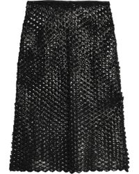 Isabel Marant - Embroidered Coated Cotton-blend Skirt - Lyst