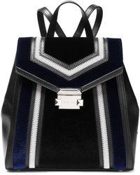 MICHAEL Michael Kors Whitney Panelled Velvet And Leather Backpack Black