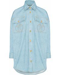 Moschino - Oversized Printed Denim Shirt - Lyst