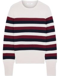 Equipment Cielle Striped Wool And Cashmere-blend Sweater - Blue