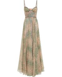 Missoni Gathered Printed Cotton And Silk-blend Georgette Maxi Dress - Multicolour