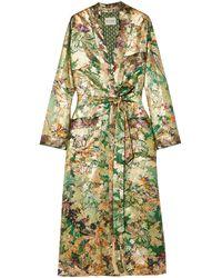 Etro Silk-blend Jacquard Jacket Jade - Green