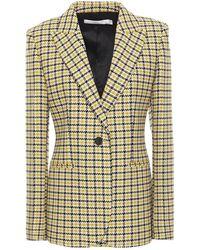 Victoria Beckham Houndstooth Wool-blend Blazer - Multicolour