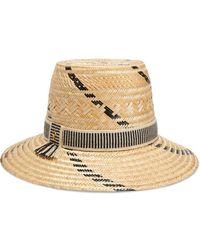 Yosuzi Irina Woven Straw Hat - Natural
