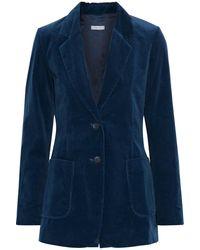 Iris & Ink Chanel Cotton-blend Corduroy Blazer - Blue