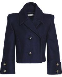 Antonio Berardi - Double-breasted Virgin Wool-blend Cropped Jacket - Lyst