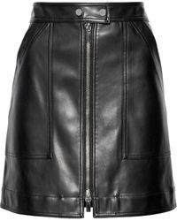 Diane von Furstenberg Faux Leather Mini Skirt Black