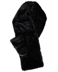 Eugenia Kim Victoria Metallic Faux Fur Scarf - Black