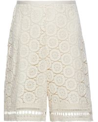 See By Chloé See By Chloé Crocheted Cotton Shorts Ecru - Multicolour