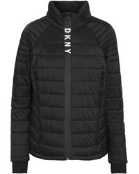 DKNY Quilted Shell Jacket Black