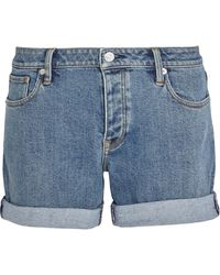 Burberry Stretch-denim Shorts - Blue