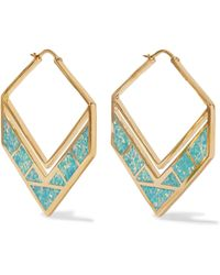 Noir Jewelry - Gold-tone Opal Earrings - Lyst