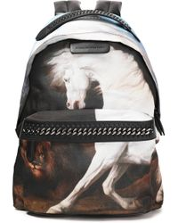 Stella McCartney - Printed Shell And Faux Leather Backpack - Lyst