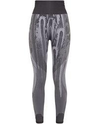 adidas Jacquard-knit Leggings - Grey