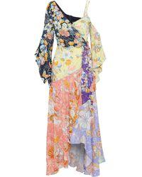 Peter Pilotto Floral-print Crepe De Chine Maxi Wrap Dress - Multicolour