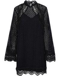 IRO - Scalloped Broderie Anglaise Cotton Mini Dress - Lyst
