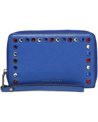 Marc Jacobs - Crystal-embellished Textured-leather Phone Case - Lyst