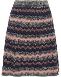 M Missoni Crochet-knit Mini Skirt - Blue