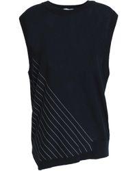 DKNY - Striped Cotton Top Midnight Blue - Lyst