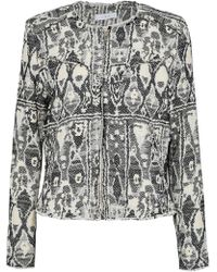 IRO - Inoui Frayed Bouclé-tweed Jacket - Lyst