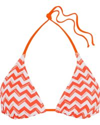 CALVIN KLEIN 205W39NYC - Printed Triangle Bikini Top - Lyst