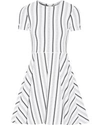 Opening Ceremony Clos Striped Textured-jersey Mini Dress - Multicolour