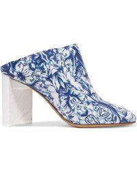 Maison Margiela - Floral-print Leather Mules - Lyst