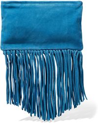 Maje - Fringed Suede Clutch - Lyst