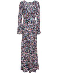 RIXO London Mimi Floral-print Crepe Midi Dress - Black