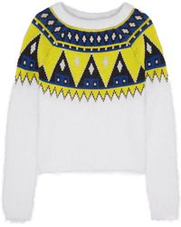 Aimo Richly - Fair Isle Angora And Wool-blend Sweater - Lyst