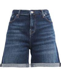7 For All Mankind 7 For All Kind Boy Faded Denim Shorts Dark Denim - Blue