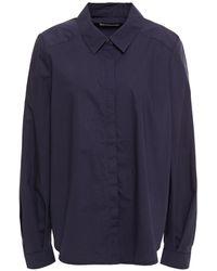 Rodebjer Ysabella Cotton-poplin Shirt Navy - Blue
