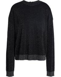 Just Cavalli - Metallic Wool-blend Jumper - Lyst