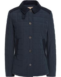 James Purdey & Sons Stundland Faux Suede-trimmed Quilted Tweed Jacket - Blue