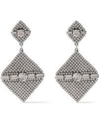 DANNIJO Silver-tone Crystal Earrings Silver
