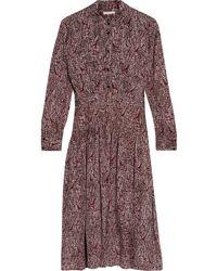 Rebecca Minkoff Jolt Printed Silk Maxi Dress - Pink