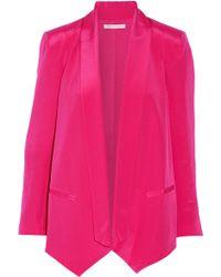 Rebecca Minkoff Becky Silk Blazer - Pink
