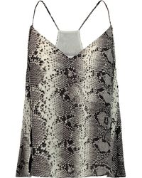 Elizabeth and James - Luella Snake-print Silk Camisole - Lyst
