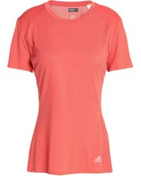 adidas - Perforated Stretch-jersey T-shirt - Lyst
