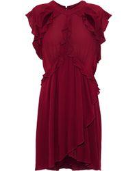 IRO - Aya Cutout Ruffled Crinkled-gauze Mini Dress - Lyst