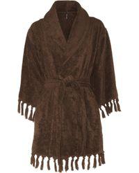 Lisa Marie Fernandez - Fringed Cotton-terry Robe - Lyst