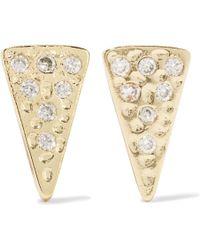 Kevia - Gold-tone Crystal Earrings - Lyst
