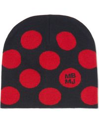 Marc By Marc Jacobs - Charlie Polka Dot-intarsia Merino Wool Beanie - Lyst