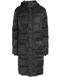 Ganni - Quilted Shell Hooded Coat - Lyst